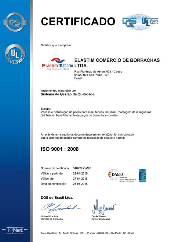 Certificado Elastim